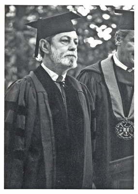 Foote at Rhodes Commencement 1982