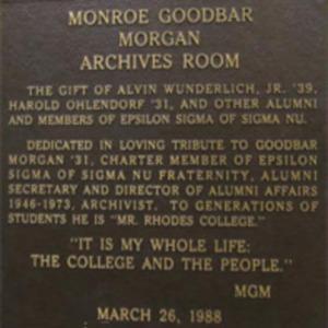 Archives image 10 Morgan plaque