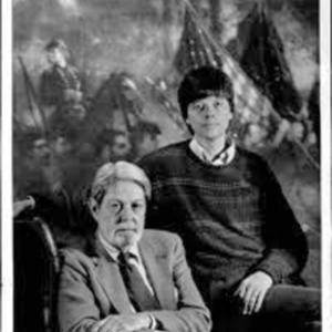 Author Shelby Foote with Civil War documentary creator Ken Burns about 1990