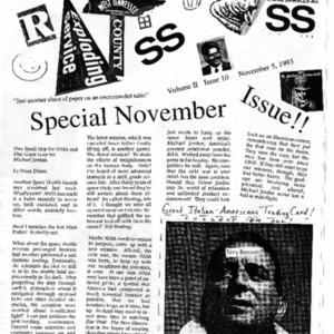 The Rat's Ass, November 5, 1993, Volume 02, Issue 10