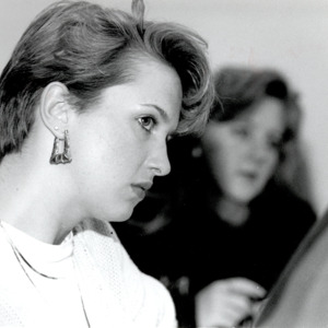 Fashion_1990_Life_Women_student_in_class