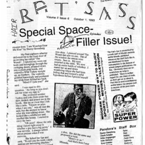 The Rat's Ass, October 01, 1993, Volume 02, Issue 06