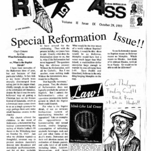 The Rat's Ass, Volume, October 29, 1993, Volume 02, Issue 09