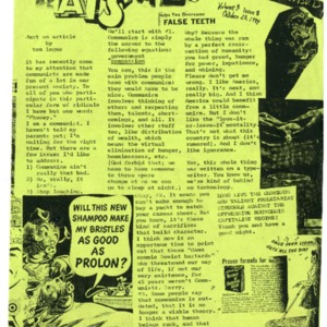 The Rat's Ass, October 28, 1994, Volume 03, Issue 08